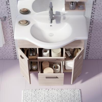 Mobile bagno rimini larice l 85 cm prezzi e offerte online for Colonna bagno leroy merlin