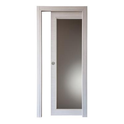 Porta da interno scorrevole spring rovere chiaro 60 x h 210 cm reversibile prezzi e offerte online - Porta scorrevole da interno ...