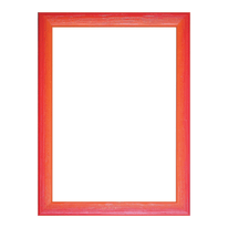 Cornice Bicolor rosso 25 x 35 cm