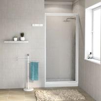 Porta doccia battente Elba 83-87, H 185 cm acrilico 3 mm stampato/bianco lucido