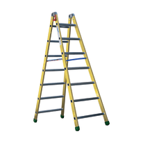 Scala doppia alluminio Facal 7 gradini, per lavori fino a 3,2 m