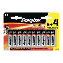 Pila alcalina stilo AA Energizer MAX 6+4