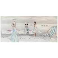 quadro dipinto a mano Beach 65x150