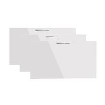 Set 3 ante bianco lucido per scarpiera componibile Puzzle