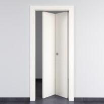 Porta da interno pieghevole Rail bianco 80 x H 210 cm dx