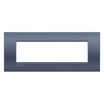 Placca 7 moduli BTicino Livinglight Air Blu