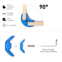 Connettore Playwood 90° per pannelli in legno in plastica hi-tech blu confezione 4 pezzi