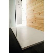 Piatto doccia resina Pizarra 130 x 80 cm ecrù