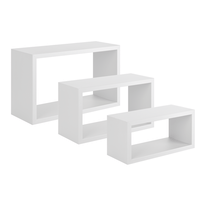 Set 3 rettangoli Spaceo bianco, sp 1,8 cm