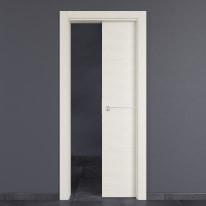 Porta da interno scorrevole Hollow bianco matrix 80 x H 210 cm reversibile