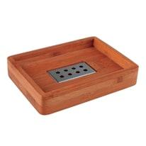 Porta sapone Natural Bamboo legno chiaro