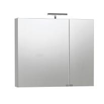 Armadietto a specchio Giada L 81 x H 70 x P  15 cm bianco lucido