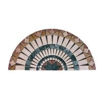 Composizione decorativa Ventaglio Bari multicolor 45 x 90 cm