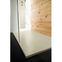 Piatto doccia resina Pizarra 100 x 80 cm grigio perla