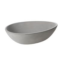 Lavabo da appoggio irregolare Sodo Cement L 53 x P 38 x H  16 cm grigio