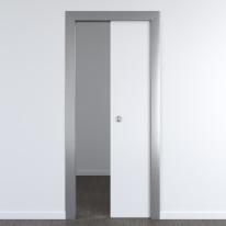 Porta per ufficio scorrevole Frame eco bianco 60 x H 210 cm reversibile
