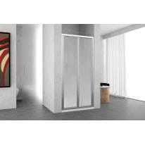 Porta doccia Oceania 84-90, H 195 cm vetro temperato 4 mm silver