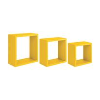 Set 3 cubi Spaceo giallo, sp 1,8 cm