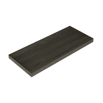 Mensola Spaceo rovere scuro L 76 x P 23,7, sp 2,2 cm