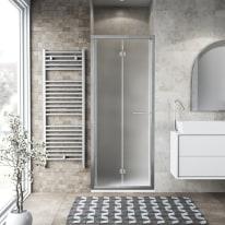 Porta doccia Record 67-71, H 195 cm vetro temperato 6 mm satinato/silver lucido