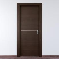 Porta da interno battente Wright Fumo 80 x H 210 cm sx