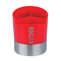 Porta posate e mestoli rosso L 14,5 x H 17 cm