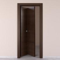 Porta da interno pieghevole Timber Fumo 70 x H 210 cm sx