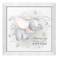 Stampa incorniciata Dumbo 34,8 x 34,8 cm