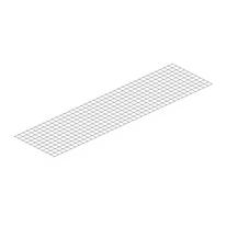 Ripiano in metallo M70 a rete 220 x 70 cm