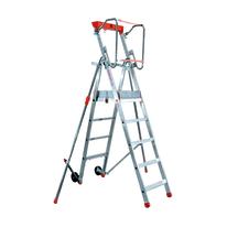 Scala doppia alluminio Facal 5 gradini, per lavori fino a 3,1 m