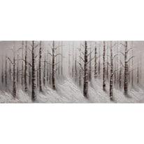 dipinto su tela Bosco invernale2 65x150