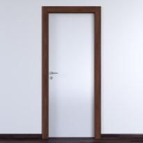 Porta da interno battente One bianca/brown 70 x H 210 cm reversibile