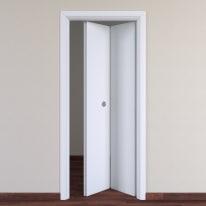 Porta da interno pieghevole Pearl bianco 70 x H 210 cm dx