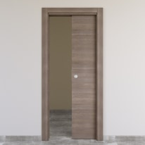 Porta da interno scorrevole Stylish grigio 70 x H 210 cm reversibile