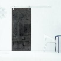 Porta da interno scorrevole Rose Fumè 96 x H 215 cm sx