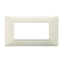 Placca 4 moduli Vimar Plana beige