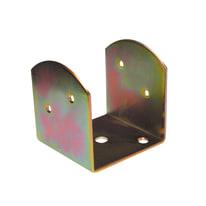 Staffa 90 x 70 mm, in acciaio zincato ad alta resistenza alla corrosione