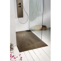Piatto doccia resina Forest 90 x 80 cm castagno