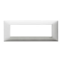 Placca 7 moduli Vimar Plana alluminio spazzolato