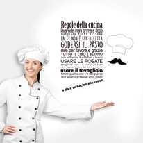 Sticker Words Up L Regole cucina
