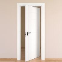 Porta da interno rototraslante Chamberì bianco 70 x H 210 cm dx