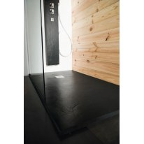 Piatto doccia resina Pizarra 90 x 70 cm nero