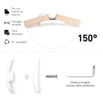 Connettore Playwood 150° per pannelli in legno in plastica hi-tech bianco confezione 4 pezzi