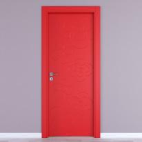 Porta da interno battente Flower red rosso 60 x H 210 cm dx