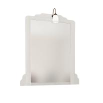 Specchio con faretto Laura bianco 100 x 113 cm