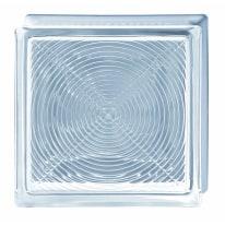 Vetromattone Pedonabile trasparente geometrico 19 x 8 x 19 cm
