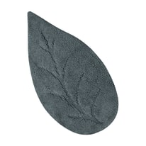 Tappeto bagno Leaf grigio