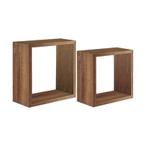 Set 2 cubi Spaceo rovere tabacco, sp 2,2 cm
