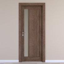 Porta da interno battente Gash tabacco 60 x H 210 cm dx