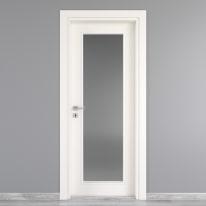 Porta da interno battente Moma Vetro bianco 80 x H 210 cm dx